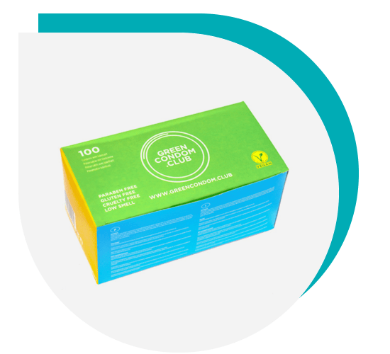 Green Condom Club - 100 Box Green Condoms